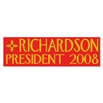 Richardson: President 2008 Sticker (Bumper)