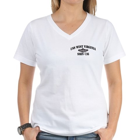 Product Image of USS WEST VIRGINIA Women's V-Neck T-Shirt