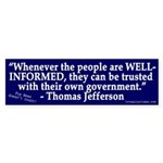 Jefferson on Well-Informed Government