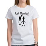 Just Married Gay Marriage Women's T-Shirt