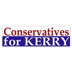 Conservatives for Kerry (bumper sticker)