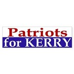 Patriots for Kerry (bumper sticker)
