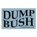 Wavy Dump Bush bumper sticker