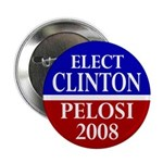 Elect Clinton-Pelosi Button