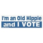 This Old Hippie Votes Bumper Sticker