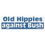 Old Hippies Against Bush Bumper Sticker