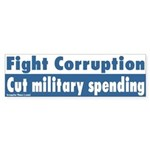 Cut Corrupt Military Budget Bumper Sticker
