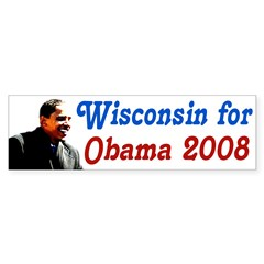 Wisconsin for Obama 2008 bumper sticker