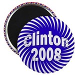 Clinton 2008 Spiral Fridge Magnet