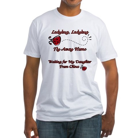 Ladybug Fly Away China Adoption  Baby Fitted T-Shirt by CafePress