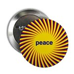 "Swirling Star Peace 2.25"" Button (10 pack)"