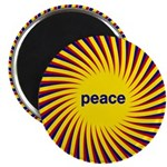 "Swirling Star Peace 2.25"" Magnet (100 pack)"