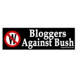Bloggers Against Bush (bumper sticker)