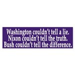 Washington, Nixon, Bush (bumper sticker)