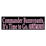 Commander Bunnypants (bumper sticker)