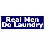 Real Men Do Laundry (Bumper Sticker)
