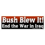 Bush Blew it In Iraq Bumper Sticker