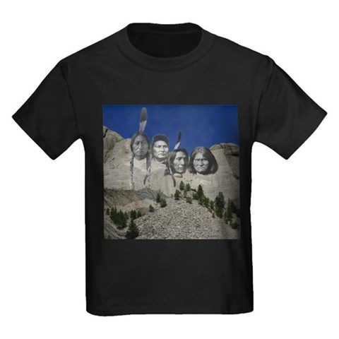 Product Image of Native Mt. Rushmore Kids Dark T-Shirt