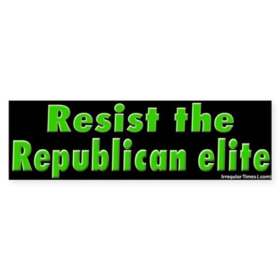 Resist Republican Elite Bumper Sticker