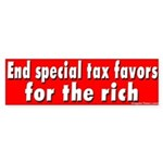 End Special Tax Favors Bumper Sticker