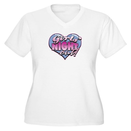 Girls' Night Out Women's Plus Size V-Neck T-Shirt