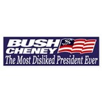 Bush-Cheney: Most Disliked President Ever