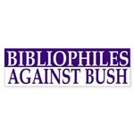 Bibliophiles Against Bush (bumper sticker)