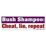 Bush Shampoo Bumper Sticker