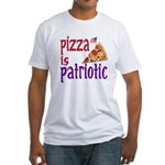 Pizza is Patriotic (Fitted T-Shirt)