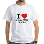 I love animation design White T-Shirt