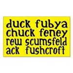 duck fubya chuck feney ack fushcroft