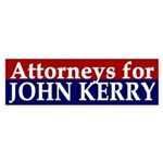 Attorneys for John Kerry bumper sticker