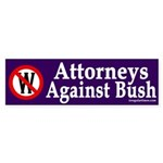 Attorneys Against Bush (bumper sticker)