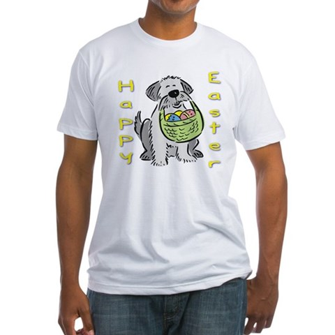 Product Image of Happy Easter Dog Fitted T-Shirt
