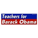 Teachers for Barack Obama bumper sticker