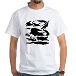 Crocodile Silhouettes White T-Shirt