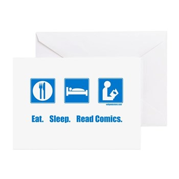 Eat. Sleep. Read comics Greeting Cards (Package of | Gifts For A Geek | Geek T-Shirts