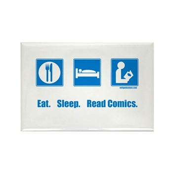 Eat. Sleep. Read comics Rectangle Magnet | Gifts For A Geek | Geek T-Shirts