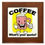 Coffee Quota Plaque