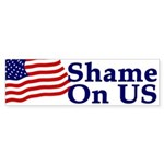 Shame on US (bumper sticker)