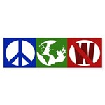 Peace, Earth, Not W (bumper sticker)