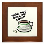 Black & Sweet Coffee Plaque