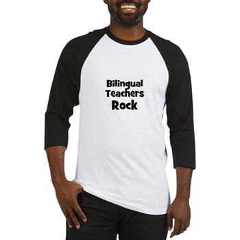Bilingual Teachers Rock Baseball Jersey
