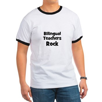 Bilingual Teachers Rock Men's Ringer Tee