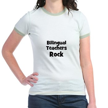 Bilingual Teachers Rock Ringer T-Shirt