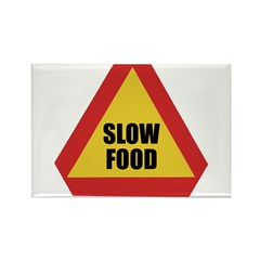 Slow Food Rectangle Magnet