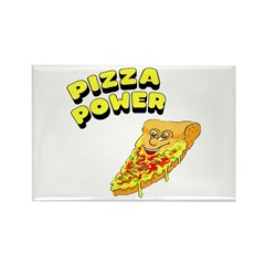Pizza Power Rectangle Magnet