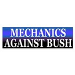 Mechanics Against Bush (bumper sticker)