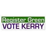 Register Green, Vote Kerry (sticker)