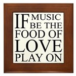 Music-Food-Love Quote Plaque